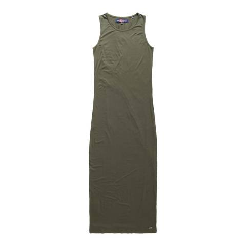 Superdry Desert Khaki Super Slinky Maxi Dress