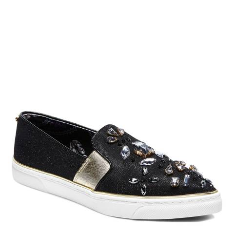 Ted Baker Black Embellished Thfia pointed Toe Slip On Sneakers