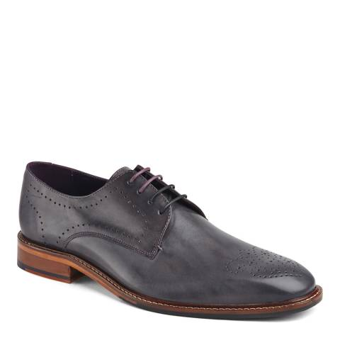 Ted Baker Dark Grey Leather Marar Shoes