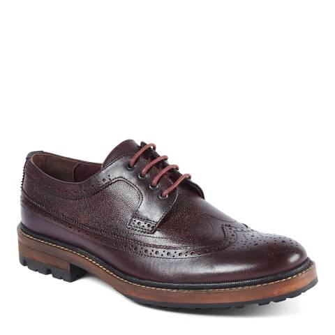 Ted Baker Dark Red Leather Casbo Brogues