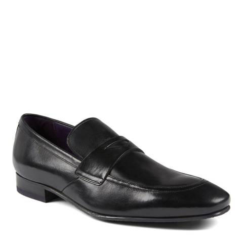 Ted Baker Black Leather Roykso Penny Saddle Loafers
