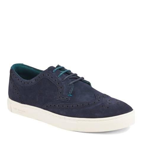 Ted Baker Blue Suede Rachet Sneakers