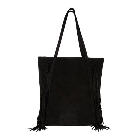 Superdry Black NEO NOMAD FRINGED SHOULDER BAG