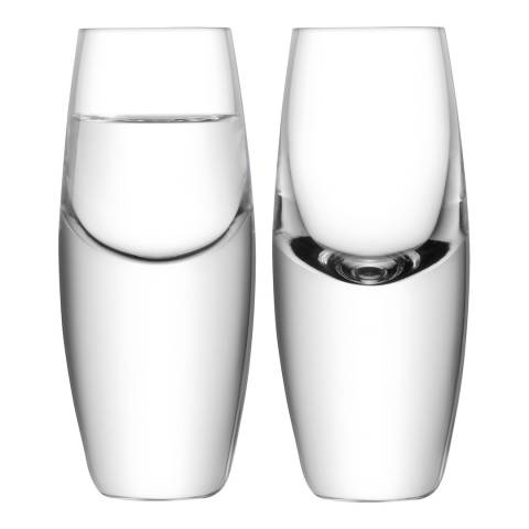 LSA Set of Two Bullet Vodka Glass Clear, 70ml