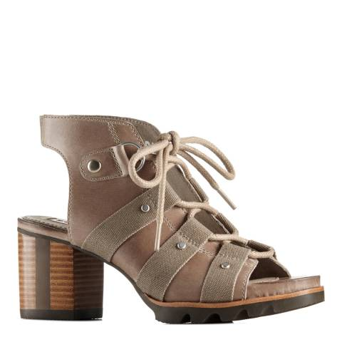 Sorel Women's Pebble And Silver Sage Leather Addington Sandals