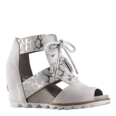 Sorel Women's  Dove Leather Joanie Lace Wedge Sandals