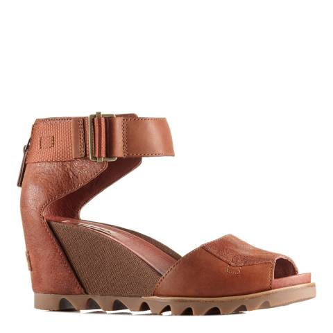 Sorel Women's Rustic Brown Leather Joanie Sandals