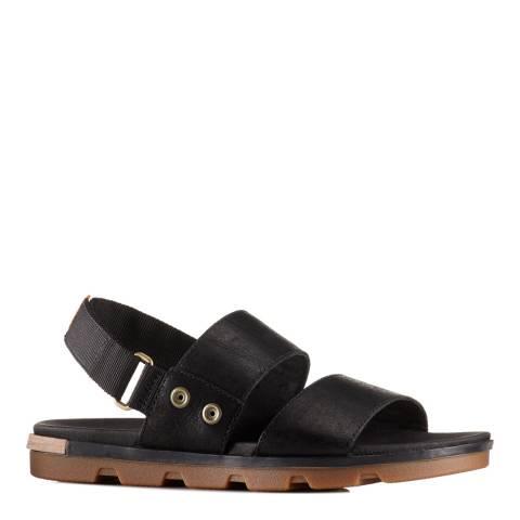 Sorel Women's Black Sahara Leather Torpeda Sandals