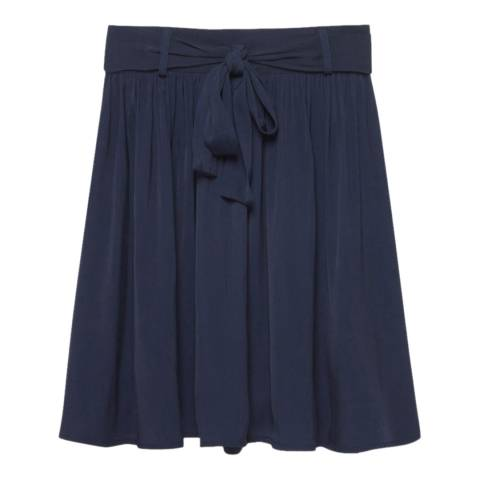 American Vintage Navy Onystate Short Pleated Skirt
