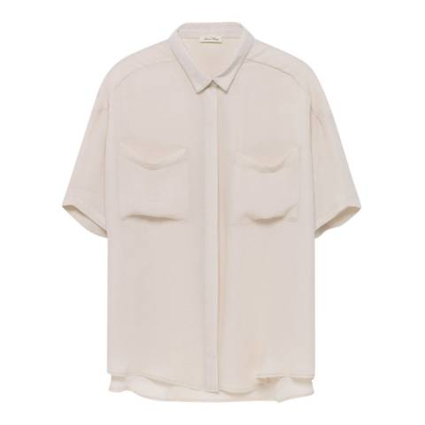 American Vintage Cream Short Sleeve Shirt