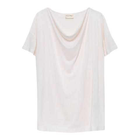 American Vintage White Iragrande Cowl Neck T-Shirt