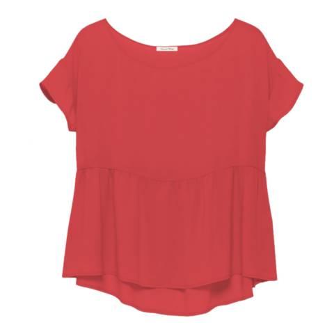 American Vintage Red Paksville Short Sleeve Flowing Top