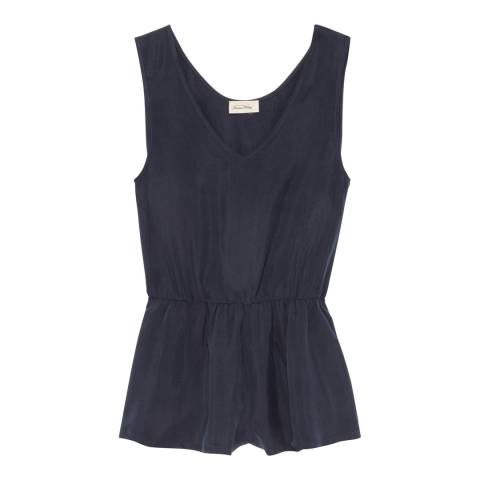 American Vintage Navy Bustier Cupro Playsuit