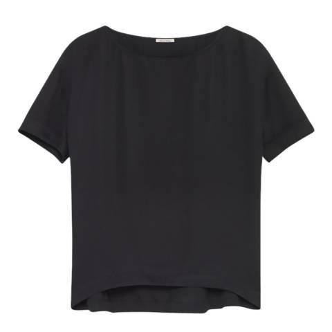 American Vintage Black Valisville Short Sleeve Top