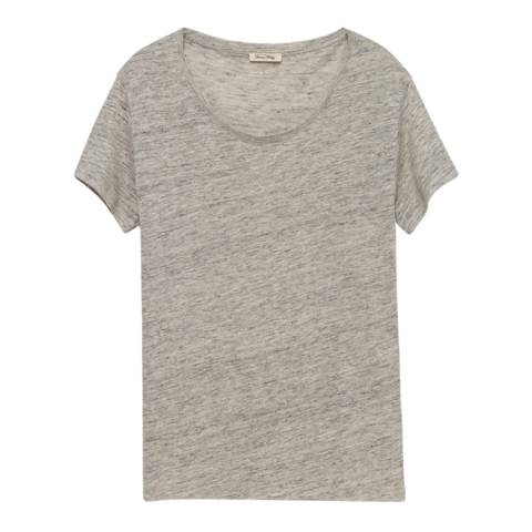 American Vintage Grey Quincy Linen T-Shirt