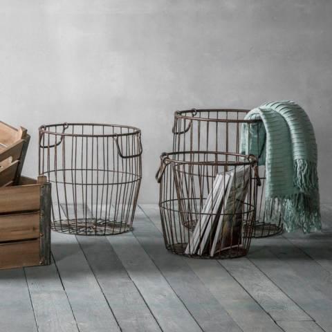 Gallery Set of 3 Leeton Metal Baskets