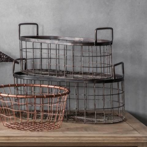 Gallery Set of 2 Lonnie Metal Baskets