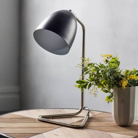 Gallery Brushed Nickel/Black Denver Table Lamp