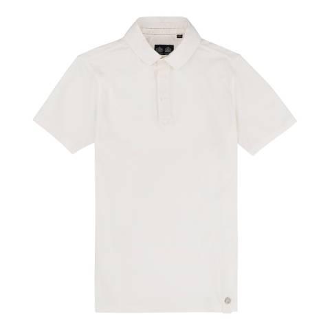 Musto Antique sail white Cotton Pique Canvas Collar Polo Shirt