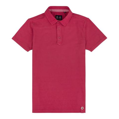 Musto Cardinal Red Cotton Pique Canvas Collar Polo Shirt
