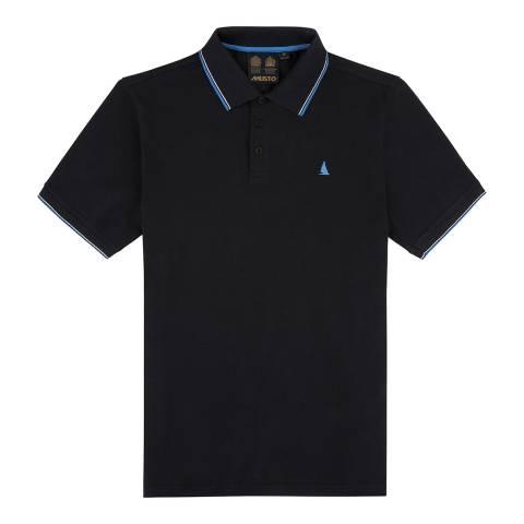 Musto Men's Black Cotton Pique Miles Tipped Polo Shirt