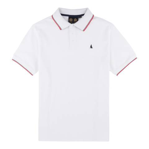 Musto Bright White Cotton Pique Miles Tipped Polo Shirt