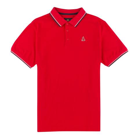 Musto Men's Tango Red Cotton Pique Miles Tipped Polo