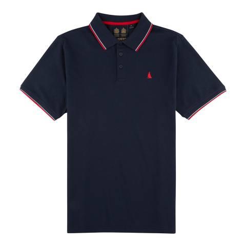 Musto True Navy Cotton Pique Miles Tipped Polo Shirt