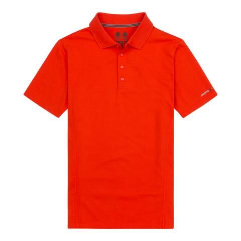 Musto Fire Orange Cotton Blend Evolution Sunblock Short Sleeve Polo Shirt