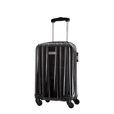 Travel One Black Spinner Singuil Cabin Suitcase 50cm