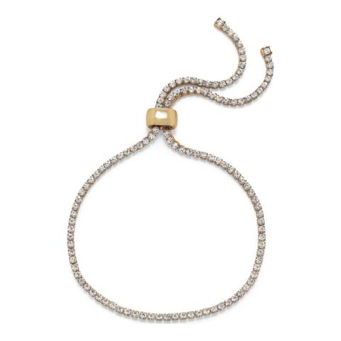 Chloe Collection by Liv Oliver Gold Adjustable Crystal Bracelet