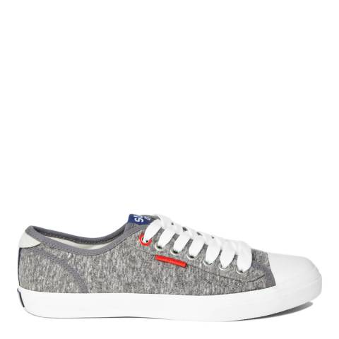 Superdry Mid Grey Marl Low Pro Trainers