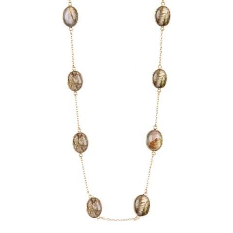 Liv Oliver Gold Labradorite Necklace