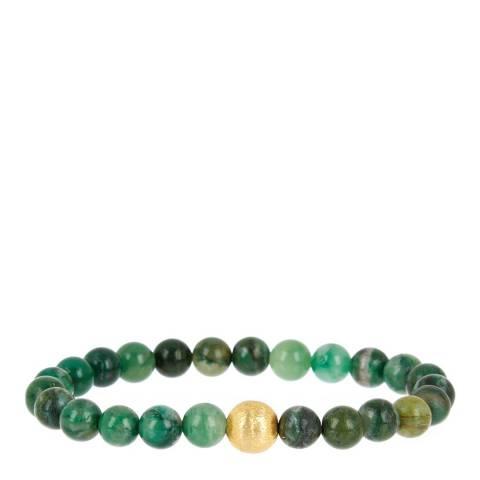 Liv Oliver Matte Gold Jade Bracelet