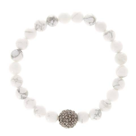 Alexa by Liv Oliver White Turquoise and Crystal Bracelet