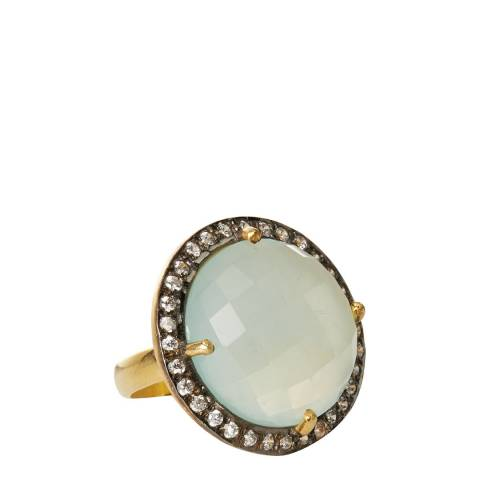 Liv Oliver Sea Green Chalcedony and Zirconia Ring