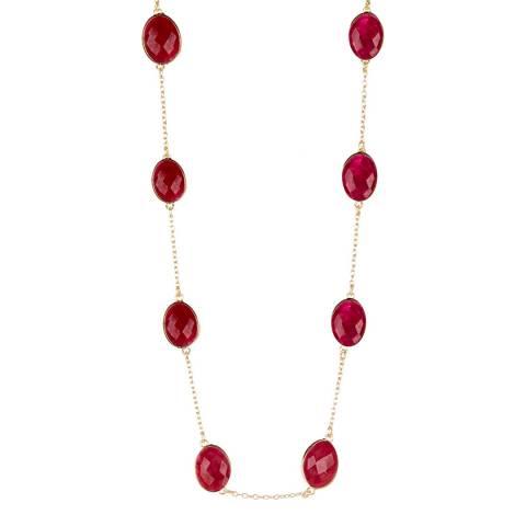 Liv Oliver Gold Ruby Necklace