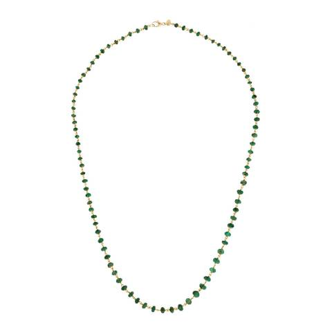Chloe Collection by Liv Oliver 18k Gold Emerald Necklace