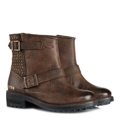 Superdry Brown Diablo Boots