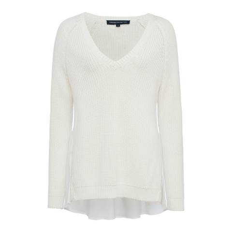 French Connection White Mozart Hybrid Knit