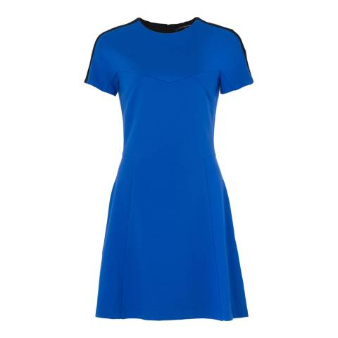 French Connection Blue Lula Stretch Flared Dress