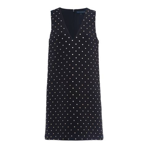French Connection Black Diamond Drop Embellished Dress