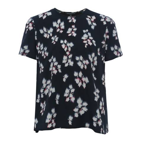 French Connection Black Eva Short Sleeve Top