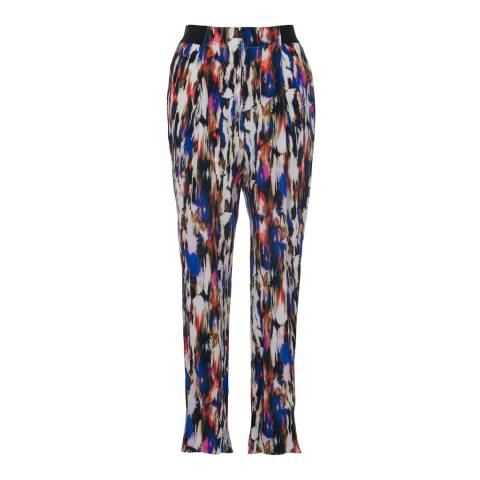 French Connection Prince Rocks Record Ripple Abstract Trousers