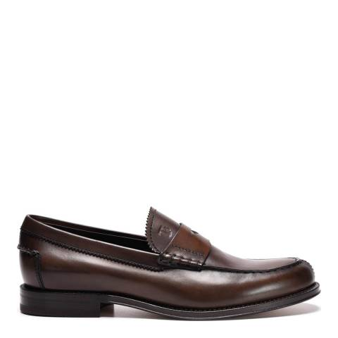 Tod's Men's Brown Leather Loafers