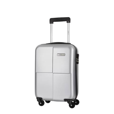 Cabine Size Silver Spinner Century Cabin Suitcase 46cm