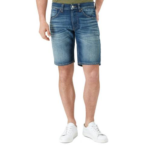 7 For All Mankind Mid Blue Clean Shorts