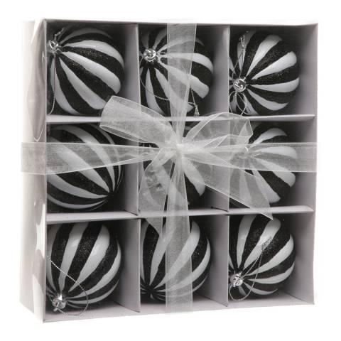 Festive White Segment Baubles 8cm x 9