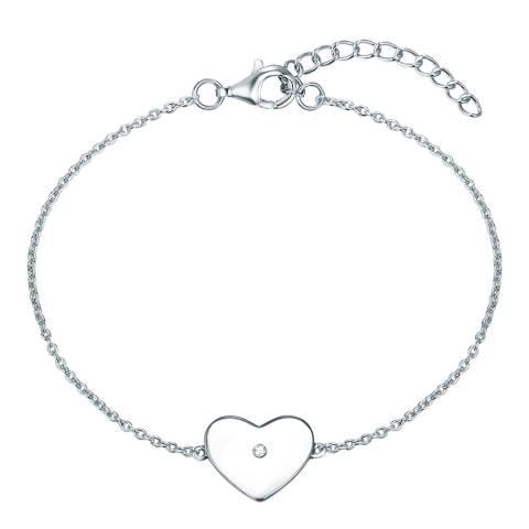 Tess Diamonds Heart Silver Bracelet