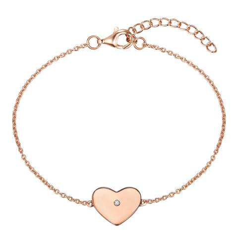 Tess Diamonds Rose Gold Heart Bracelet